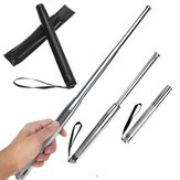 Telescopic Steel bastone Rod Safe Walking Security Emergency Portable 3 Sezioni Rod