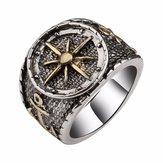 RetrovingerringenAntiekzilverCompass Patter vinger Ring