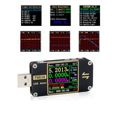 FNB38 Medidor de tensão de corrente USB testador QC4 + PD3.0 2.0 PPS Testador de capacidade de protocolo de carregamento rápido 5A 5V 12V 24V