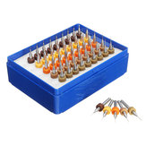 Drillpro 50pcs 0.25-0.45mm Tungsten Carbide Micro PCB Drill Bit Set for PCB Circuit Board