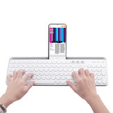 MIIIW 104Keys Wireless bluetooth Dual Mode Membrane Teclado Branco