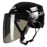 Nuoman 316 Motorrad Half Face Helm Elektroroller Fahrradhelm mit Visierlinse