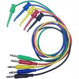DANIU 1PCE 4mm Banana Plug için Bakır Çift Test Çengel Klip Kablo Kurşun Tel 100 cm