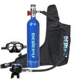 1L Scuba Oxygen Cylinder Air Tank Underwater Glassess Breathing Equipment Set