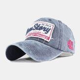 Unisex Cotton Washed Embroidery Letter Pattern Sunvisor Sun Hat Baseball Hat