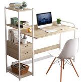 Meja Laptop Komputer Menulis Meja Belajar Rak Buku Desktop Workstation dengan Rak Penyimpanan Laci Perabot Kantor Rumah