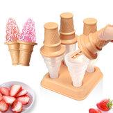 Cartoon Cone Shaped Eiscremeform Vier Sticks Eiscremeformen für Kinder Aktivität