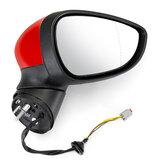 Motorista direito de espelho retrovisor elétrico pintado de vermelho para Ford Fiesta Mk7 2008-2012