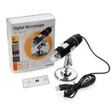 Microscopio Endoscopio Biologico USB Portatile a Mano 1600X Zoom 8 LED con Supporto