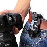 PULUZ PU231 Kameraklammer Aluminiumlegierung Schnellwechselklammer mit Platte für DSLR-Kamera