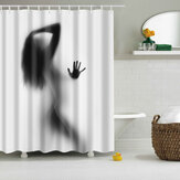 Bathroom Shower Curtains Sexy Woman Shower Curtain Waterproof Polyester Fabric Screen
