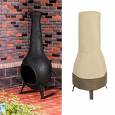 Patio Chiminea Cover Waterproof Chimney Fire Pit Heater Cover for Veranda Outdoor Garden