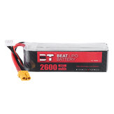 BT BEAT 14.8V 2600mAh 35C 4S Lipo Battery XT60 Plug With Battery Strap for FLY WING FW450 RC Helicopter