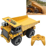 HuiNa Toys 540 1/18 2.4G 6CH Elektrische Rc Car Dump Truck Alloy Engineering Vehicle