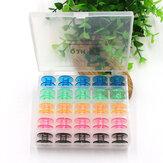 25pcs colorido plástico bobinas de máquinas de coser vacías carretes hermano cantante Babylock