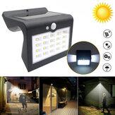 Étanche LED solaire lumière PIR détecteur de mouvement extérieur Garden Street Wall Lamp