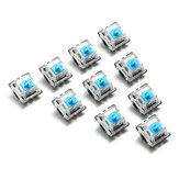 10PCS 3 Pin Mecánico Teclado Interruptor Interruptor Azul