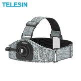 Telesin cinta de cabeça ajustável multi-ângulo antiderrapante para montagem GoPro DJI Osmo acessórios da câmera de ação