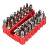 33pcs Screwdriver Bit Set Torx Spanner Star Hex Holder Rod ferramenta chave de fenda