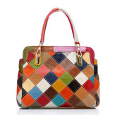 Borsa donna in pelle di vacchetta patchwork Coloreful