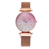 Elegant Gradient Roman Dial Magnetic Buckle Quartz Watch