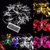 1M 10 LED Battery Operated Butterfly String Fairy Light Party Xmas Wedding Decor