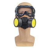 Survival Gas Máscara Spray respiratório de segurança com filtro e óculos de proteção dupla