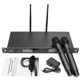 WEISRE U-6002 KTV Karaoke Sahne Toplantısı İçin Kablosuz Çift Mikrofon Sistemi