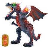 BCP Dálkové ovládání T-Rex RC Walking Dinosaurní světla a zvuky Děti Vývojové hračky Animal