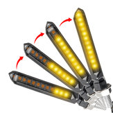 1Pcs Yellow/Red Motorcycle Flowing LED Turn Signal Indicator Lamp Sequential Lights Universal