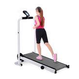 LED Display Portabel 90 ° Lipat Treadmill Dengan Roda Rumah Multifungsi Fitness Sport Menjalankan Mesin