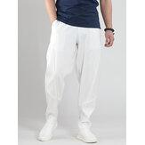 Ademende lichtgewicht 100% katoenen multi-zakken voor heren Casual Yoga-broek