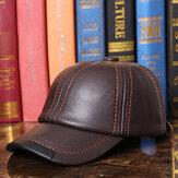 Uomo Vintage Vera Pelle Berretto da baseball all'aperto Cappellini antivento