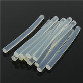 12Pcs 7×100mm Transparent White Hot Melt Glue Stick Strips