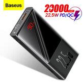 Baseus 22,5W PD QC3.0 AFC SCP 10000mAh 20000mAh Power Bank Zewnętrzna ładowarka baterii LED Cyfrowy wyświetlacz dla iPhone 12 12 Mini 12 Pro Max dla Samsung Galaxy Note S20 Ultra Huawei Mate40 OnePlus 8 Pro