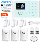 ANGUS CS118 Tuya WIFI Sistema de alarme de segurança doméstica Controle de aplicativo compatível com Alarme contra roubo Alexa Wireless