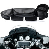3 Pouch Pocket Wind Shield Bag Fairing For Harley Electra Street Glide Touring