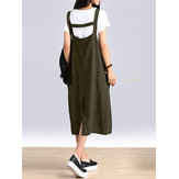 Women Sleeveless Straps Split Hem Dress