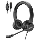 EKSA H12E Headset Noise Reduction Headphone 360° Flexible Microphone Crystal Clear Chat Upgraded durability for PC Laptop