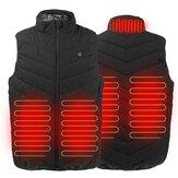 S-5XL tamanho elétrico 3 engrenagens USB colete aquecido masculino feminino controle de jaqueta de aquecimento rápido