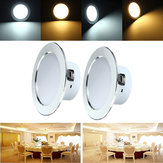 12W LED Panel Recessed Lighting Ceiling Down Lamp Bulb Fixture AC 85-265V