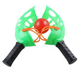 Plastic Green Toss & Catch Racket Game Toy Parent-child Activities For Kids Outdoor Sports Toys