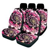 Capas universais para bancos de carro Rosa Fantasy Design Capas completas para bancos dianteiros e traseiros