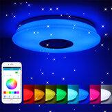85-265V 24-60W Dimmable Smart LED Plafonnier APP Contrôle Bluetooth Musique Salon Chambre