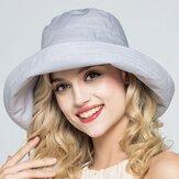 Bonnet à roulettes ajustable en lin et coton pour femmes