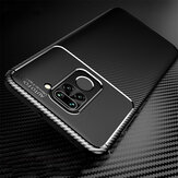 Bakeey for Xiaomi Redmi Note 9 / Redmi 10X 4G Case Luxury Carbon Fiber Pattern Shockproof Silicone Protective Case Non-original