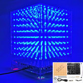 3D Light Cube Kit 8x8x8 Blå LED MP3 Music Spectrum DIY Elektronisk Kit