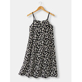 Women Allover Daisy Print Spaghetti Straps Casual Nightgowns