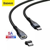Baseus 100W Zinc Magnetic USB-C to USB-C Data Cable PD QC Fast Charging Data Transmission Cord Line 1.5m Long For Huawei P30 P40 Pro Mi10 OnePlus 8Pro For iPad Pro 2020 Air 2020 MacBook Air 2020