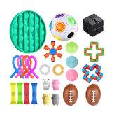 Fidget Toys Sensorisches Set Anti Stress Relief Zappeln Bubble Toys Dekompression Artefakt Handspielzeug für Kinder Erwachsene